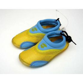 Dětské neoprenové boty do vody, žlutomodré