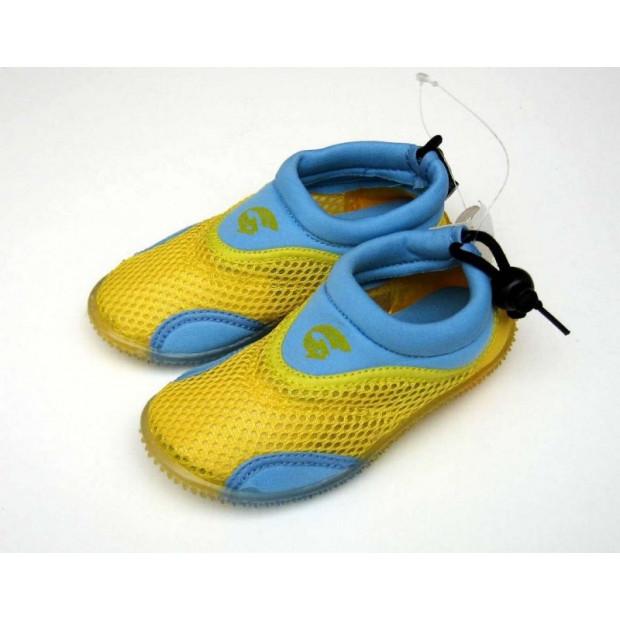 Detské neoprénové topánky do vody, žlutomodrá