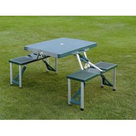 Skladací kempingový picnic set - stôl s lavičkami