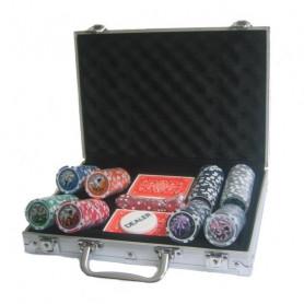 Poker set 200 v alu kufru s označením hodnot