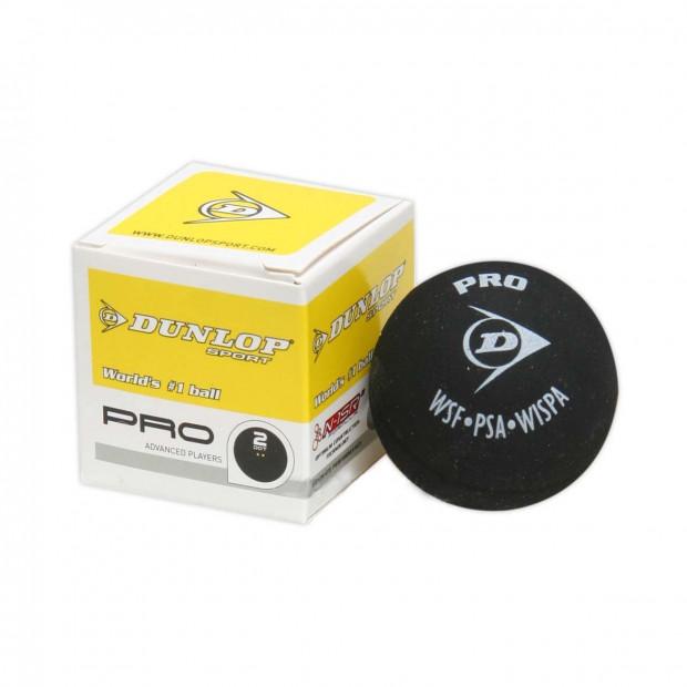 Loptička na squash Dunlop PRO - 2 žlté bodky