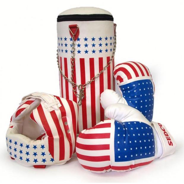 Boxovací set detský - vrece + rukavice + prilba