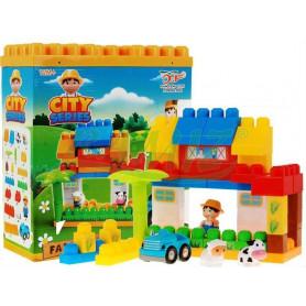Dětská stavebnice Mega Farma 40 kostek