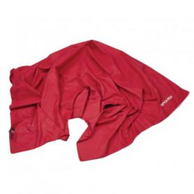 Rychleschnoucí ručník Spokey Sirocco XL, červený s odnímatelnou sponou