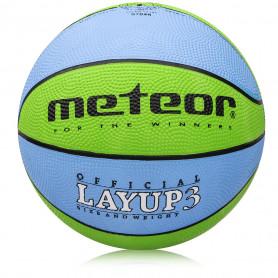Basketbalový míč Meteor Layup modrý