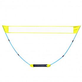 Zahradní badmintonová sada Meteor Combo včetně rozkládací sítě, raket a míčků