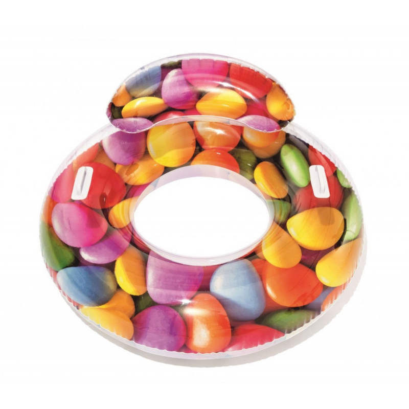 Nafukovací kruh s opěrkami Bestway Candy 117 x 118 cm