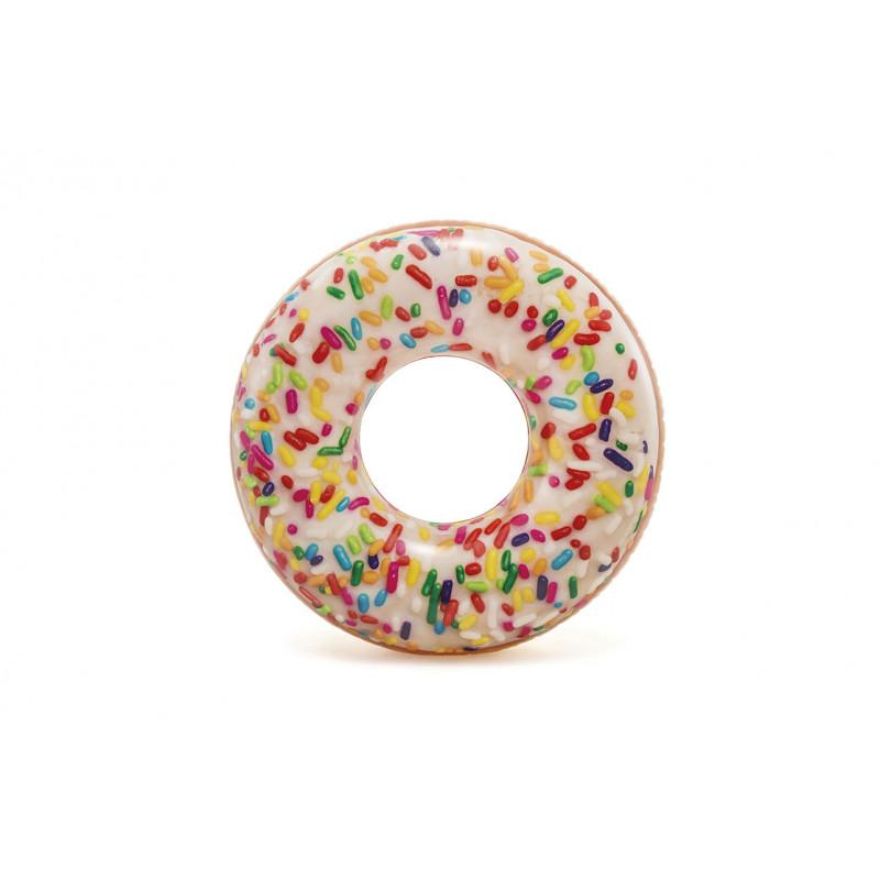Nafukovací kruh Intex Donut s posypem 114 cm