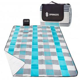 Velká pikniková deka SPRINGOS XL Grey 200 x 200 cm