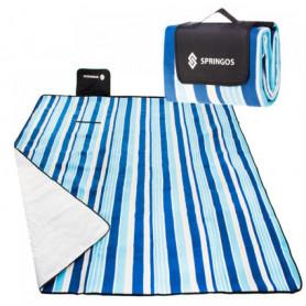 Velká pikniková deka SPRINGOS XL Blue Sea 200 x 200 cm