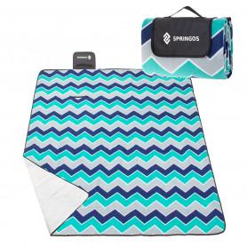 Velká pikniková deka SPRINGOS XL Wave 220 x 180 cm