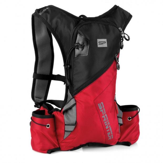 Cyklistický a běžecký batoh Spokey Sprinter 5l černo/červený