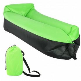 Nafukovací vak SPRINGOS Sofa Lazy Bag Green/Black 185 x 75 x 45 cm / 180 kg5 x 62 cm / 180 kg