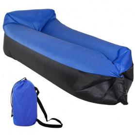 Nafukovací vak SPRINGOS Sofa Lazy Bag Black/Blue 185 x 75 x 45 cm / 180 kg