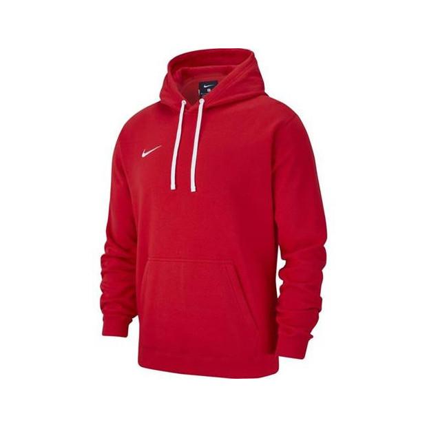 Pánska mikina Nike Team Club 19 Fleece Hoodie Red AR3239 657