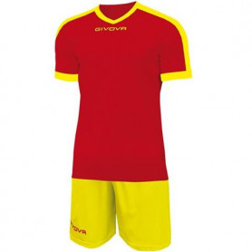 Sada dres a trenýrky Givova Kit Revolution red-yellow KITC59 1207