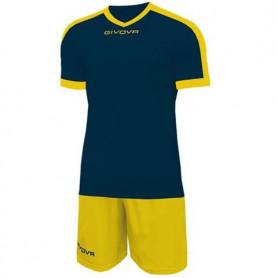 Sada dres a trenýrky Givova Kit Revolution navy-yellow KITC59 0407
