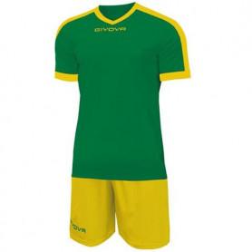 Sada dres a trenýrky Givova Kit Revolution green-yellow KITC59 1307
