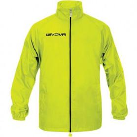 Nepromokavá bunda Givova Rain Basico Fluo žlutá RJ001 0019