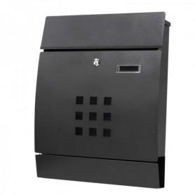 Poštovní schránka Springos MB0019 44 x 35 x 10,5 cm černá mat s okýnkem