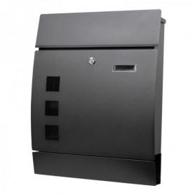 Poštovní schránka Springos MB0020 44 x 35 x 10,5 cm černá mat s okýnkem