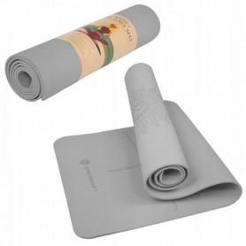 Podložka na jógu Springos YG0017 183 x 61 x 0,6 cm / šedá