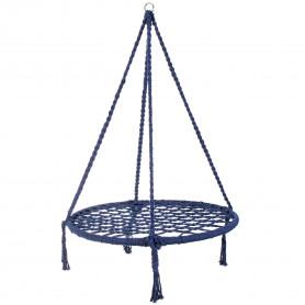 Kulatá lanová houpačka Springos SPR0013 80 cm tmavě modrá