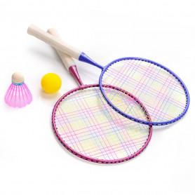 Dětský badmintonový set Meteor 2 rakety + 2 míčky + obal