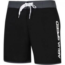 Pánské plavecké šortky Aqua-Speed Evan černo-šedé