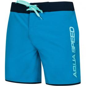 Pánské plavecké šortky Aqua-Speed Evan modro-černé