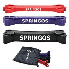 Sada posilovacích odporových gum Springos PB0006 / 3 kusy