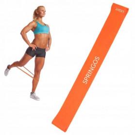Posilovací odporová guma Springos PB0008 5-10 kg / oranžová