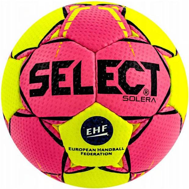 Míč na házenou Select Solera 2 růžovo-žlutý 14295, velikost 2