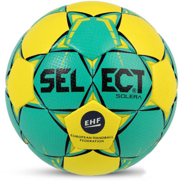 Míč na házenou Select Solera Junior 2 EHF 2018 zeleno-žlutý 14294, velikost 2