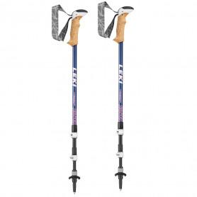Trekové palice Leki Cressida Antishock 6492115, 90 - 125 cm, bluemetallic-berry-white