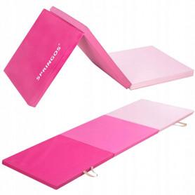 Skladací žinienka Springos 180 x 60 x 5,5 cm Pink Light