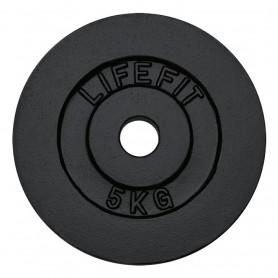 Kotouč LIFEFIT 5kg, kovový, pro 30mm tyč