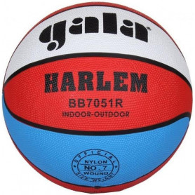 Míč basket GALA HARLEM 7051R, červeno/bílo/modrá