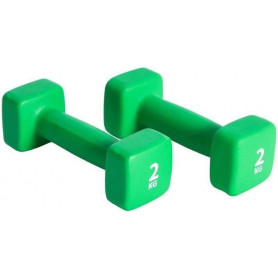 Činka NEOPREN P2I set 2x4 kg, Zelená 2x2 kg