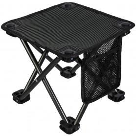 Kempingová skládací židlička KING CAMP - černá