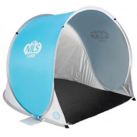Samorozkládací plážový stan NILS Camp NC3173 modro-šedý