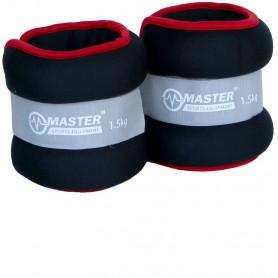 Kondiční zátěž na zápěstí a nohy MASTER 2 x 1,5 kg - neopren